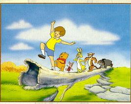 Disney Winnie the Pooh, Eeyore, Tigger, Piglet Log walking Lithograph - $32.20