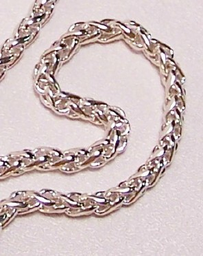 Sterling Silver Wheat Chain 20 IN 4.5mm .925