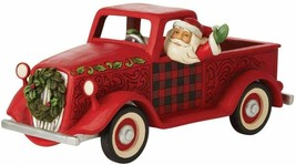 """Jim Shore 13.5"""" Long Large Red Truck Figurine  - Loads of Christmas Cheer image 1"""
