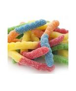 Gummi Neon Sour Worms 1 pound gummy neon worms gummi candy - $4.67