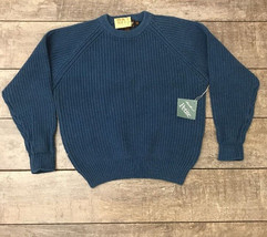 New With Tags Eddie Bauer Shaker Knit Sweater Petite M Blue  - $13.86