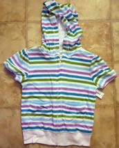 Girls Old Navy Hoodie Short Sleeve Jacket Shirt sz 4T White Blue Purple Green NW - $15.99
