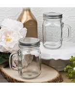 12 Ounce Perfectly Plain Glass Mason Jar with Handle from Fashioncraft - $50.93