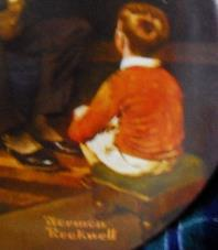 KNOWLES/Norman Rockwell collectors plate 'The Tycoon'-BOXED