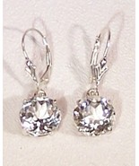 White Topaz Sterling Silver Earrings 8.0 cttw D... - $145.00