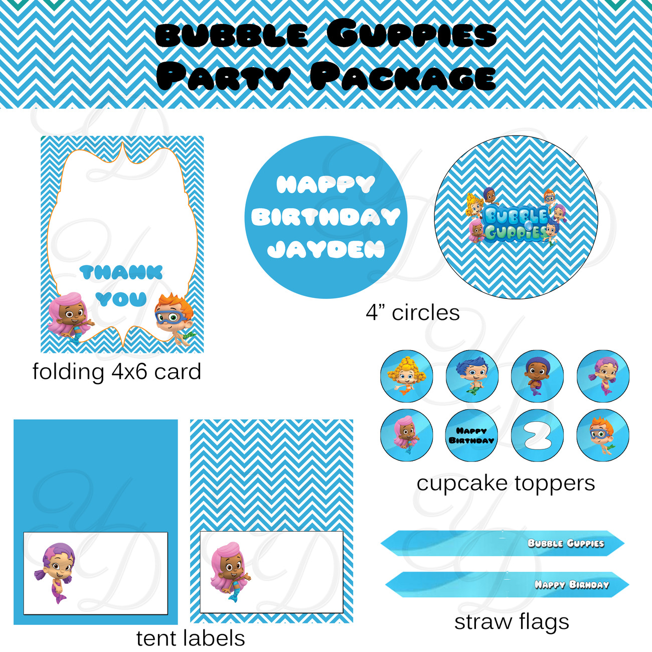 Bubble Guppies Invitation Printable and 50 similar items – Free Printable Bubble Guppies Birthday Invitations