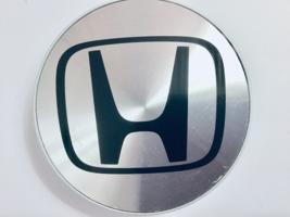 (1) Used Honda Accord CHROME/BLACK Emblem Oem Center Hubcap P/N 44732-SX0-J010 - $6.60