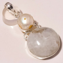 "Rainbow Moonstone, River Pearl Gemstone Ethnic Jewelry Pendant S-2.30"" U... - $4.95"