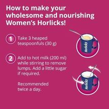Women's Horlicks 400Gm Nutrition Drink Choose from 2 Flavors Chocolate / Caramel image 12