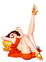 American Pinups: Film Fun - Lounging Brunette Girl - Bolles - 1936 - $12.82+
