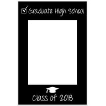 Class of 2018 Graduation Selfie Frame Party Photo Prop Poster - £12.38 GBP
