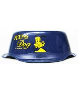 Pluto Disney Small Pet Puppy Dog Kitten Cat Navy Blue Water Food Bowl BW... - $8.59