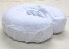 4 Pc Massage Table Face Cradle Covers Headrest Flannel Pad Cover White - $12.00