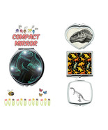 dinosaurs makeup mirror compact mirror purse mirror travel mirror - $11.99