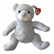 Ty Pluffies Tinker Baby Light Blue Bear Bean Bag Plush Stuffed Animal 2003 - $19.77