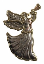 Vintage Metal Large Angel Pin Brooch Angels Costume Jewelry - $27.08