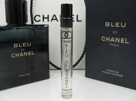 Authentic! NEW 2019! Bleu De Chanel Parfum 10ML Travel Spray Sample - $24.00