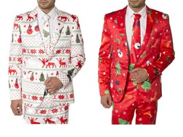 Mens Slim Fit Fancy Dress Novelty Christmas Suit Costume - $25.13+