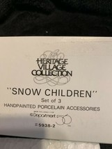 Dept. 56 Snow Children Set of 3 Retired 1994 Heritage Village 59382 New ... - $10.84