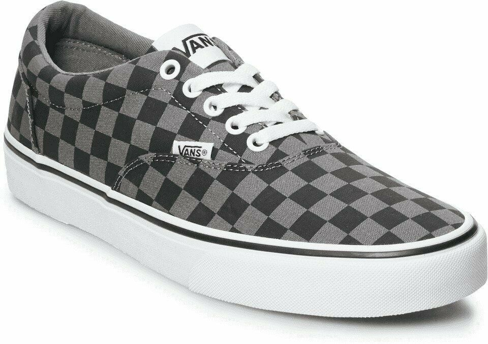 MEN'S VANS DOHENY VN0A3MTFEO0 (CHECKERBOARD) BLACK/PEWTER DS BRAND NEW