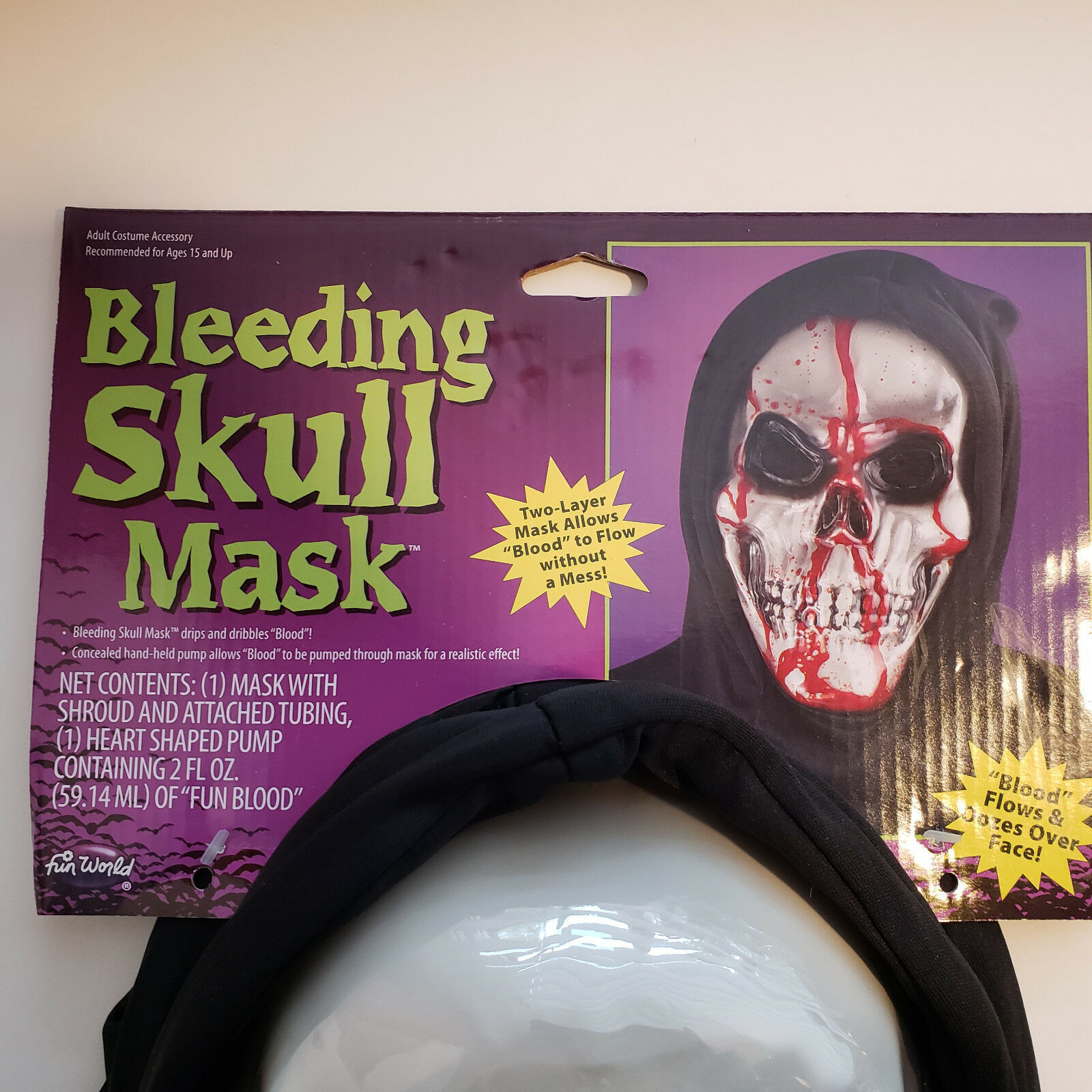 Bleeding Skull Mask Skeleton Costume Dripping Bloody Scary Cosplay Halloween