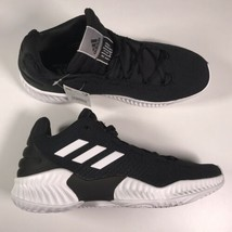 Adidas Pro Bounce Mid 2018 Mens Size 10.5  Black / White Basketball Shoe... - $83.79