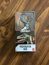 "Jurassic World Primal Attack 6"" Velociraptor Blue Dinosaur Figure!!! - $14.00"