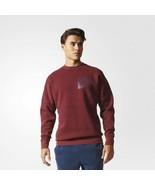 Adidas Mens ID Snow-Washed Fleece Crew Sweatshirt Pullover Top S98763 Ma... - £38.49 GBP