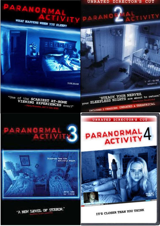 Paranormal Activity 1-4 DVD Collection