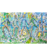 "Original Untitled ""FAMILY"" Mixed Media Abstract Art Painting- Signed by ... - $2,399.99"