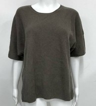 "VINCE 100% Cashmere Ribbed Sweater Taupe Brown Boxy M L 46"" bst - $49.49"