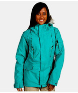 Burton TWC Parka Jacket Womens Waterproof Insulate Ski Snowboard Green 2XS - $161.04