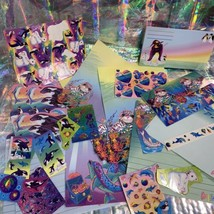 90s Lisa Frank Stickers Stationery Lot Dolphins Max Whale Penguins Roary Seal