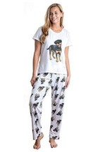 Dog Rottweiler pajama set with pants for women Rottwailer - $35.00