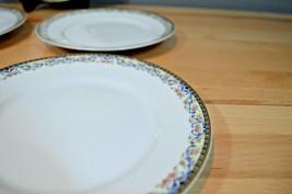 """Limoges Theodore Haviland France 7.5"""" 5 Salad Plates pink flower blue swag - $22.74"""