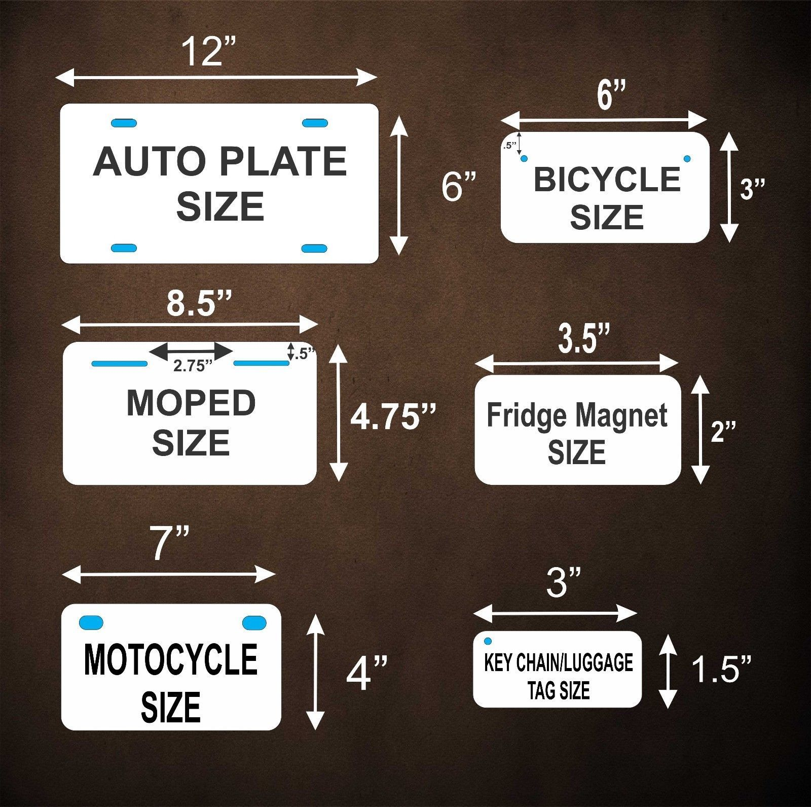 With God All Possible License Plate Personalized Car Bike Motorcycle Moped