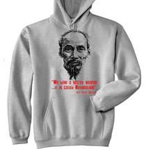 Ho Chi Minh Vietnam - New Cotton Grey Hoodie - All Sizes In Stock - $39.75