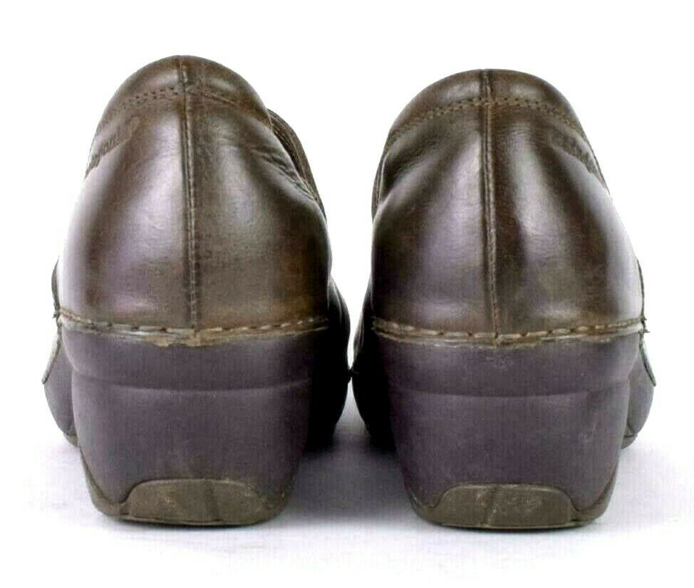 Patagonia Brown Leather Nursing Occupational Clogs Shoes Womens 7