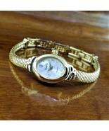 New Womens Dainty Vanity Fair Diamond Accent Gold TN Slinky Mesh Bracele... - $29.95