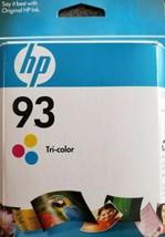 HP 93 TRI-COLOR Original Ink Cartridge, New in Original Box, Sealed - $10.30
