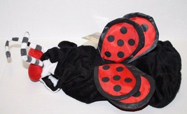 Top Paw DOG XS LADYBUG HALLOWEEN COSTUME X SMALL Red Black Plush Polka D... - $12.57