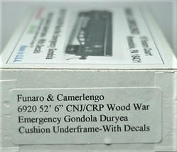 Funaro HO CNJ/CRP Wood War Emergency  Gondola Kit 6920 image 3