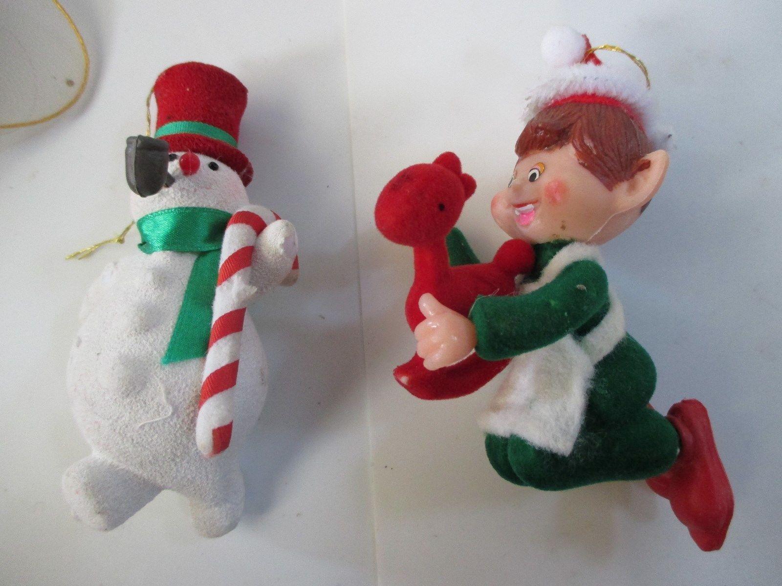 Vintage Rubber Face Shelf Elf Angel Napco Mistletoe Knee Hugger
