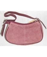 Genuine Suede Leather Shoulder Bag/Handbag #61 DUSTY WINE - $12.00