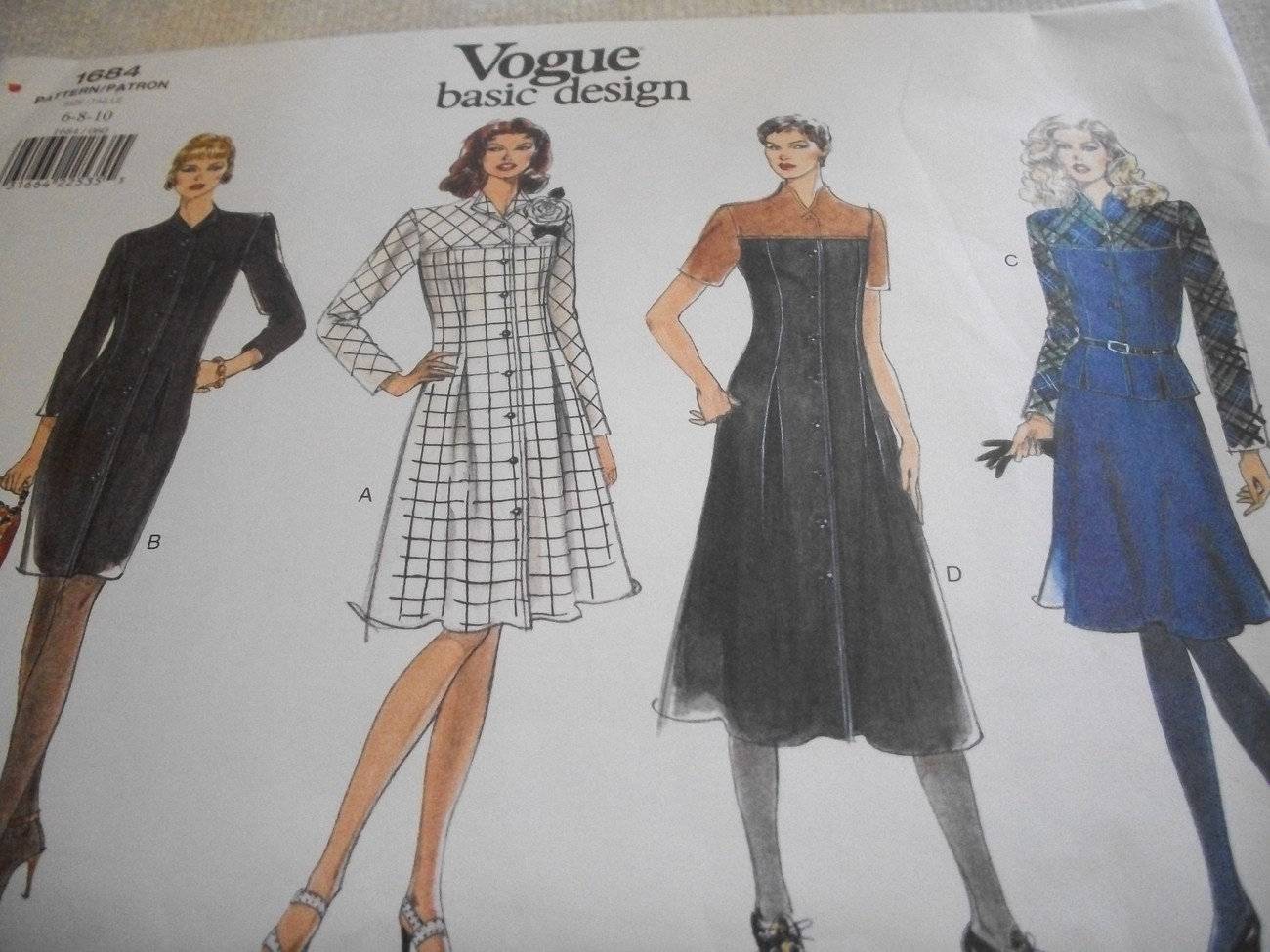 Primary image for Womans Dress, Top & Skirt Pattern Vogue 1684