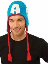 Captain America Hat Marvel Superhero Fancy Dress Up Halloween Costume Accessory - $18.17
