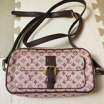 Auth Louis Vuitton Monogram Shoulder Bag Pink Zipper Inner Pockets LVB0805 - $512.82