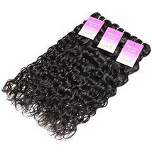 "Water Wave 3 Bundles 10"" 12"" 14"" Brazilian Human Hair 8A Unprocessed Wet and Wav image 3"