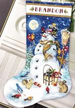 Dimensions Snowman & Friends Birds Christmas Cross Stitch Stocking Kit 08839 - $57.95