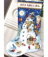 Dimensions Snowman & Friends Birds Christmas Cross Stitch Stocking Kit 0... - $57.95